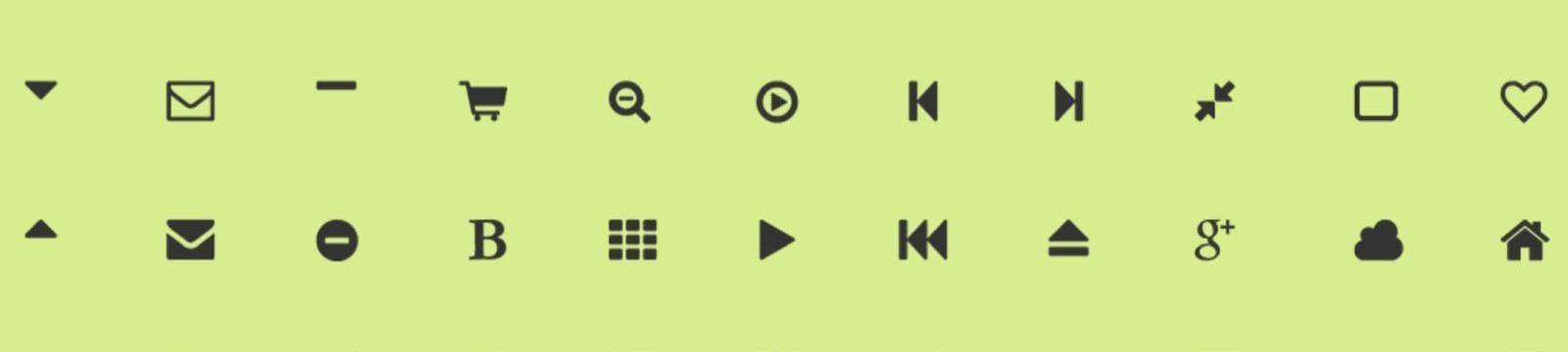 Sonderzeichen und Icon Fonts