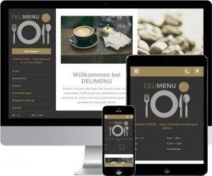 so kann Ihre restaurant Webseite mit responsive Web Design optimiert aussehen