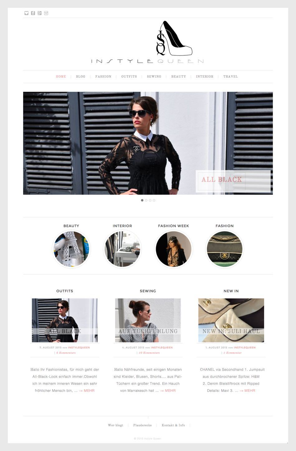 Portfolio Online Profiler - Instyle Queen Mode-/Näheblog