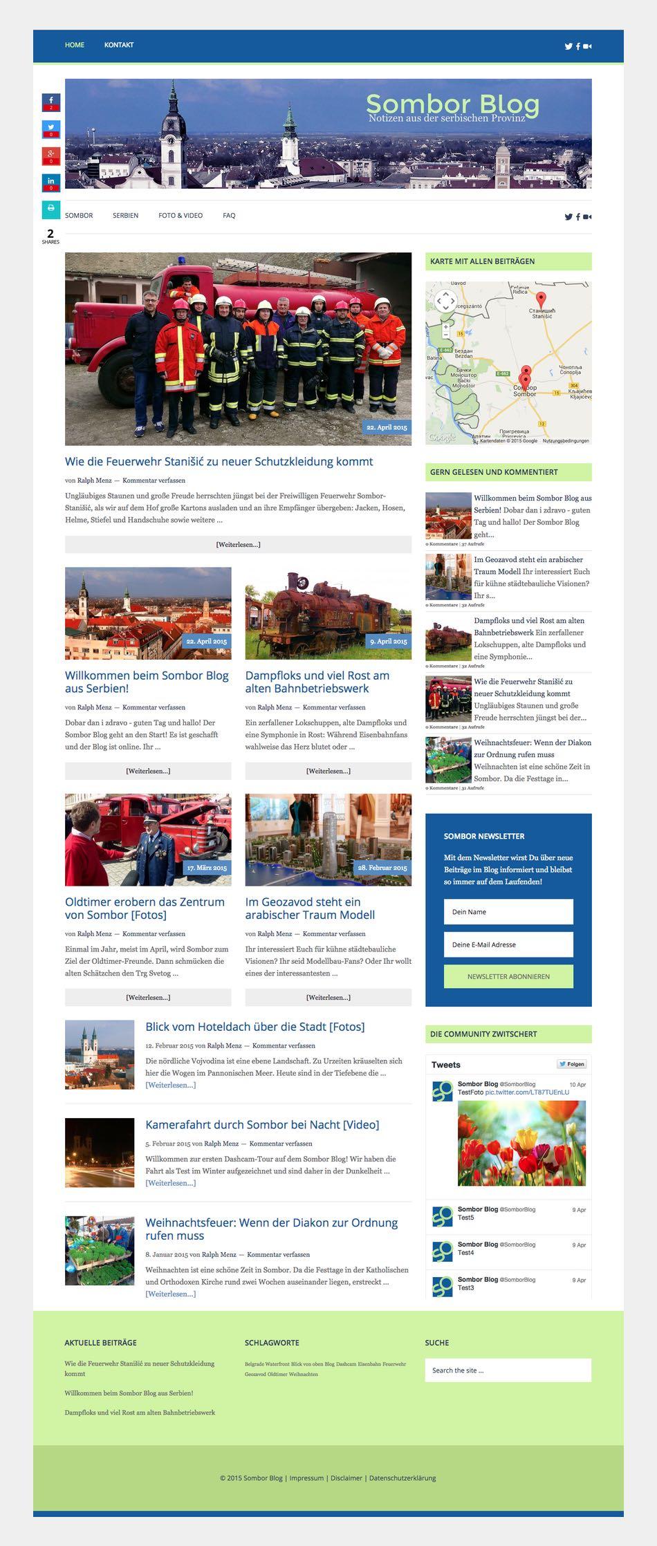 Sombor Blog - Notizen aus der Serbischen Provinz